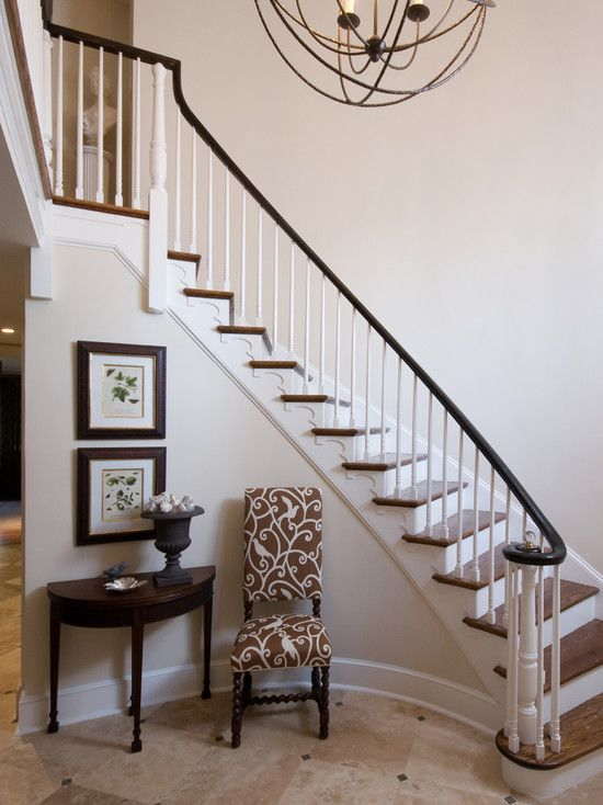 Spaces Curved Stairs Design Pictures Remodel Decor And Ideas