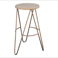 Bar Stool with Copper Hairpin Legs | Scandinavian Style ...