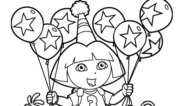 Big list of dora birthday party game ideas to help make your full hd the explorer coloring pages smartphone high quality