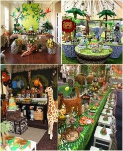 Jungle Animal Party Decoration Ideas Animal Themed Birthday Party