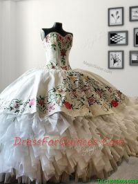 Mexican Style,Western Style Quinceanera Dress, white