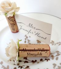 Single Cork Place Card Holder | Diy wedding projects ...