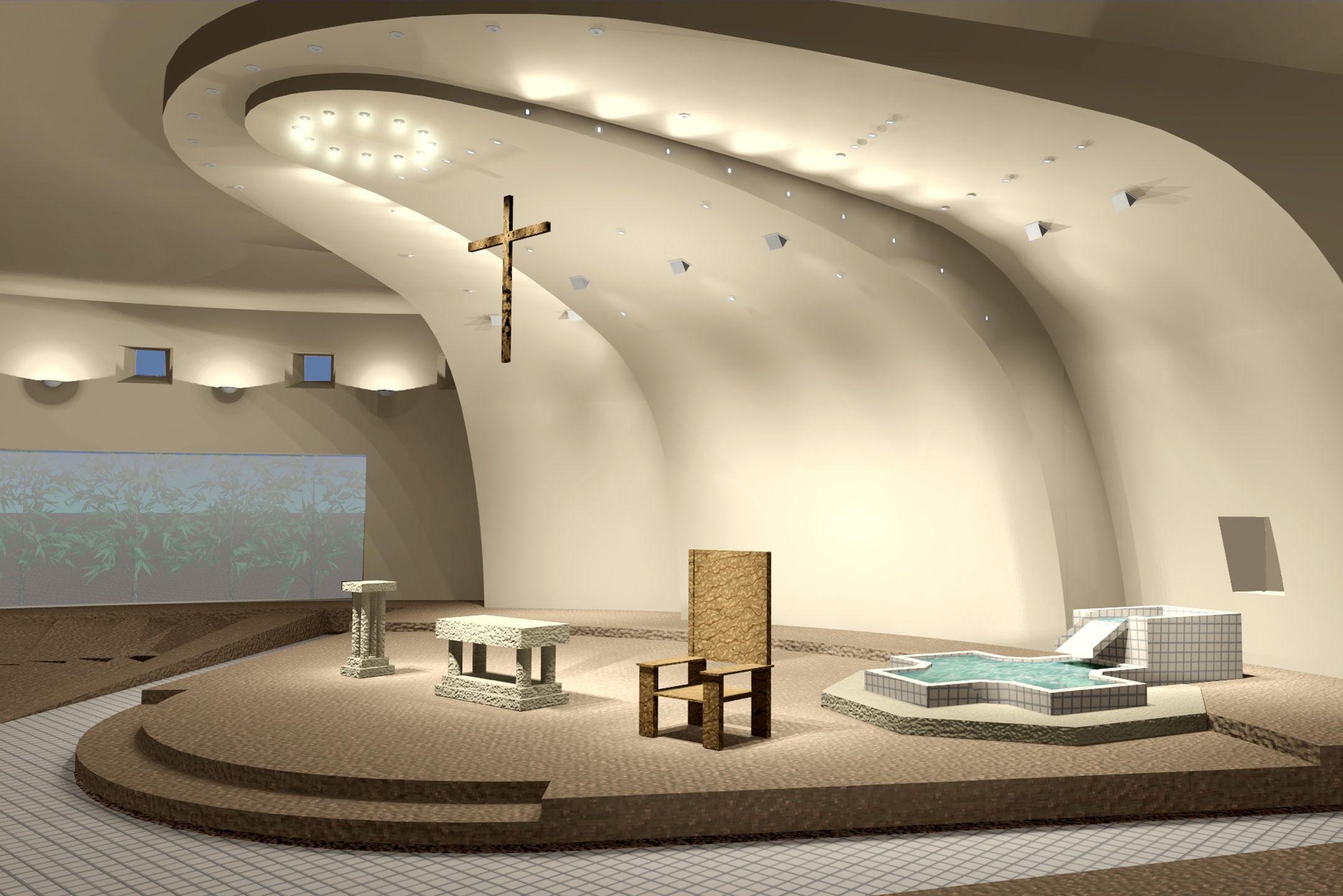 Cute Modern Church Interior Design Along With Hardwoord Amp Tile