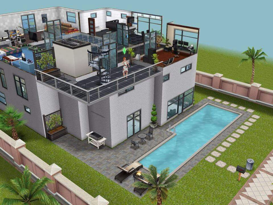 House 99 High School Level 3 #sims #simsfreeplay #simshousedesign
