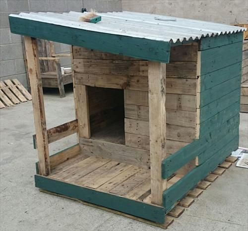 10 DIY Dog House Made From Pallets Pallet Furniture Designs Diy