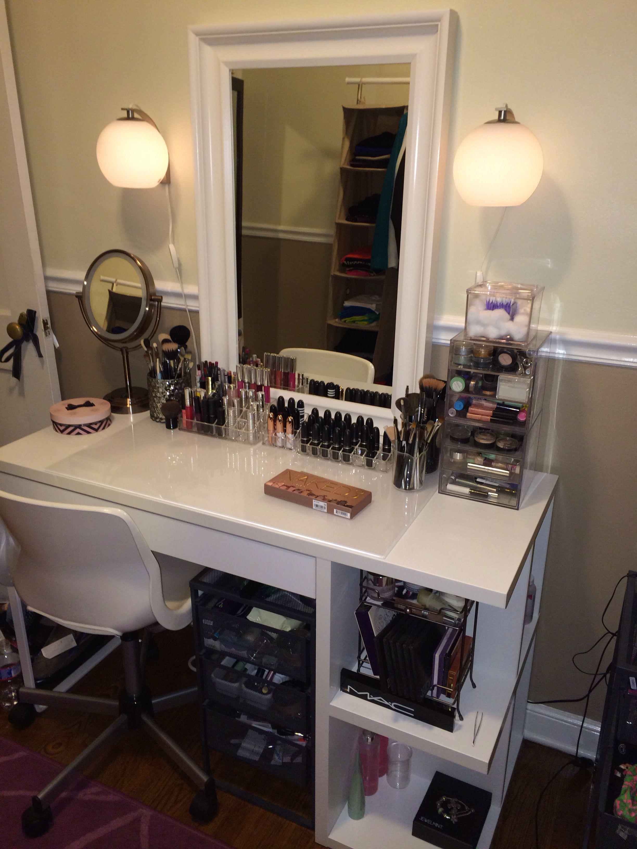 Makeup Organization  White Dressing Table  Decoration