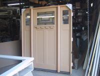Entry Door with Two Side Lights | Entry Prehung Craftsman ...