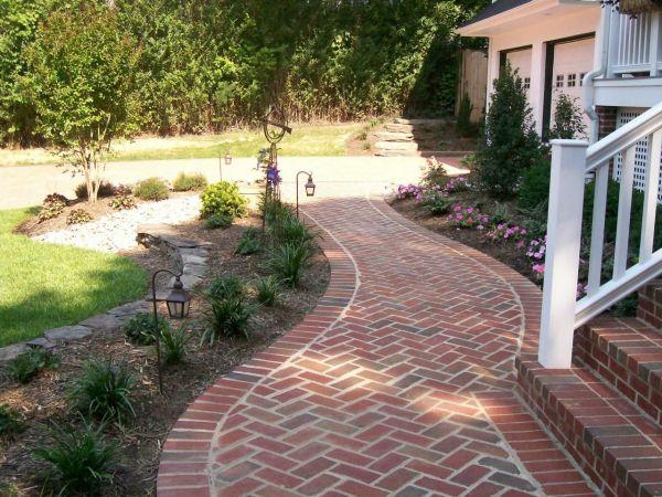 brick walkway leading