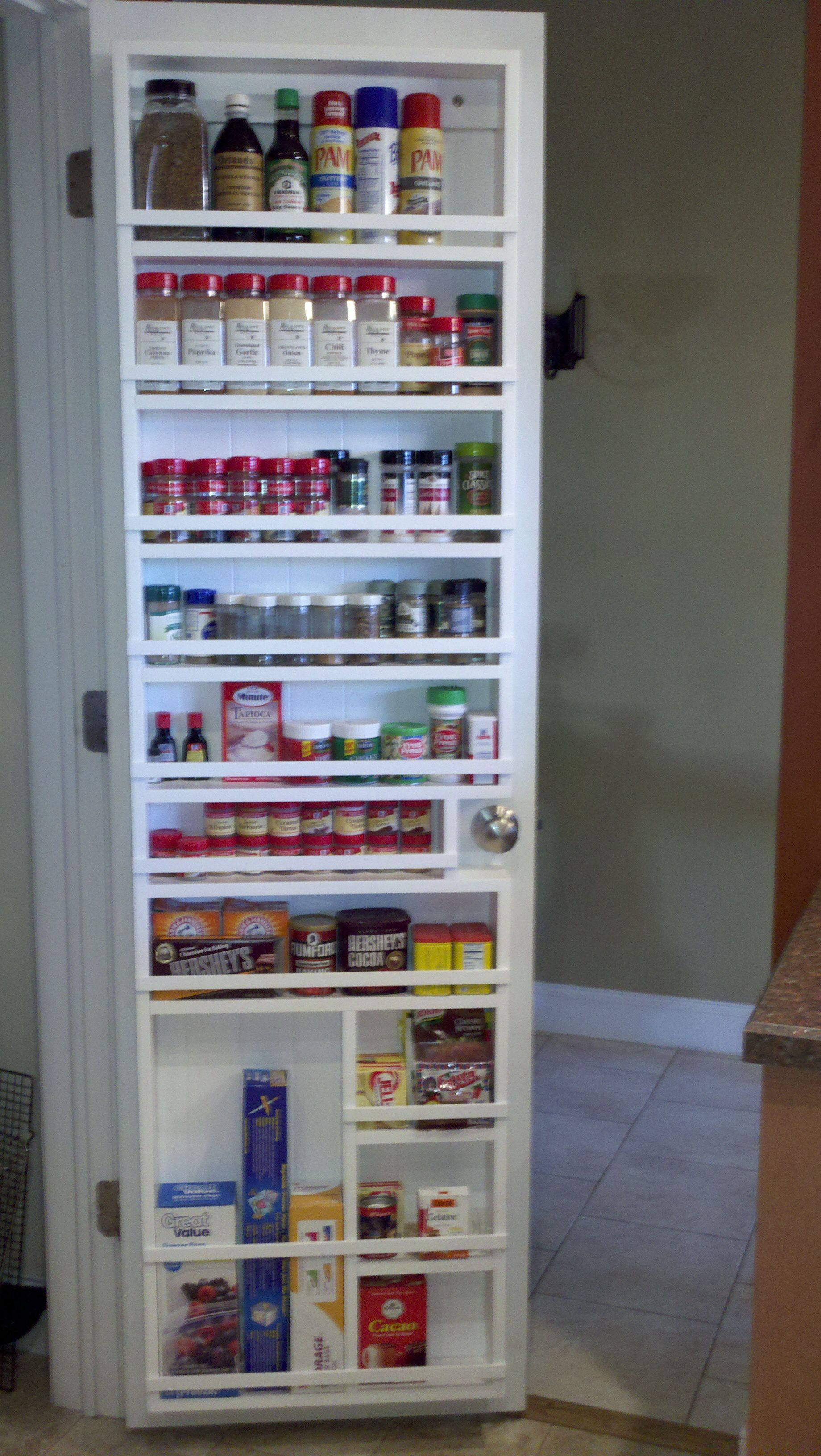 diy kitchen pantry cabinet plans design online my husband made this for me great spice rack now