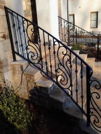Decorative Exterior Wrought Iron Handrail Railing