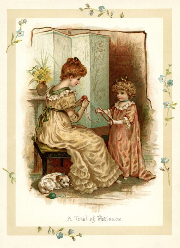 Vintage Storybook Illustration Trial Of Patience