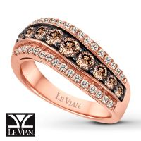 Rose Gold Engagement Rings With Chocolate Diamonds