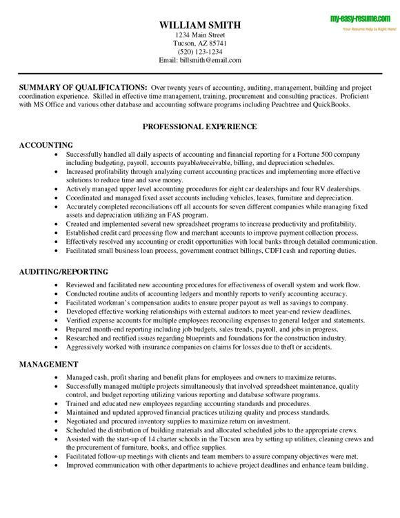Superior Cpa Resume Objective Resume Accounting Objective Accounting  Accounting Objective Resume