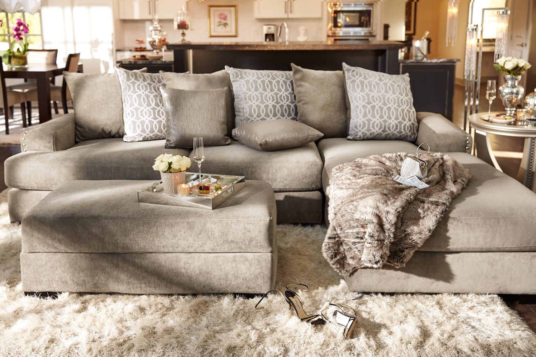 glam sofa set via gesu versace stay on trend with the uber tempo collection a