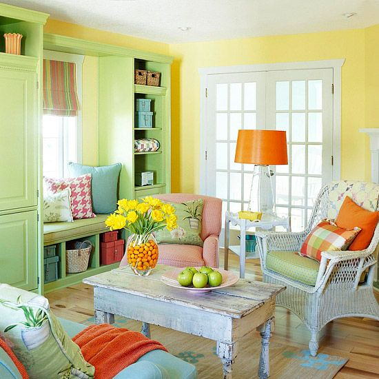 Beautiful home color design to your house rustic living room decor with triad yellow green red blue ideas decorated wooden flooring and traditional also dramatic pastels for the pinterest pink accents rh