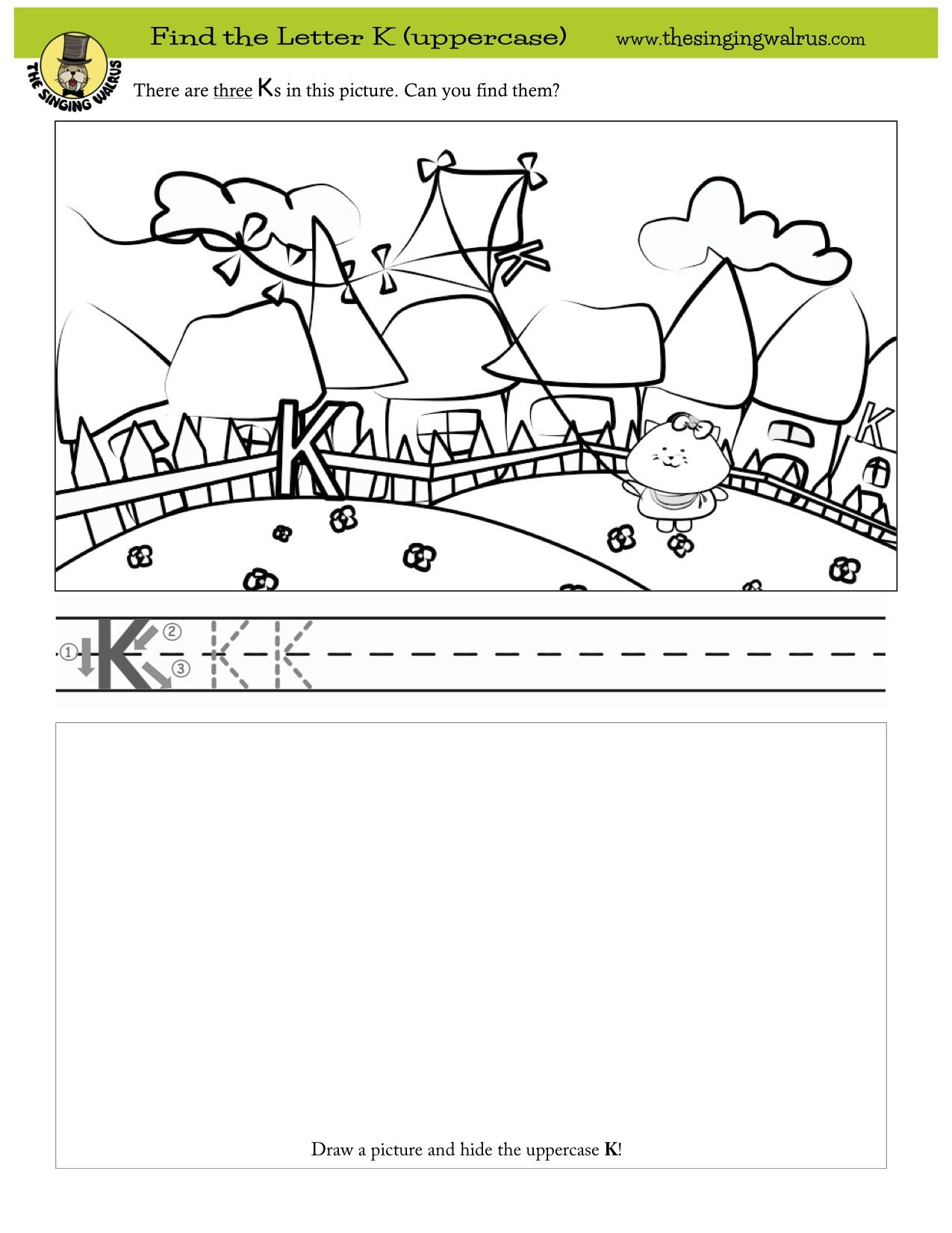 Find The Three Hidden Letter K S More Free Printables