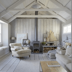 Coastal Living Room Decorating Ideas Uk New York Loft Style Bleached Paneling And Nautical Look | Cote De Texas ...