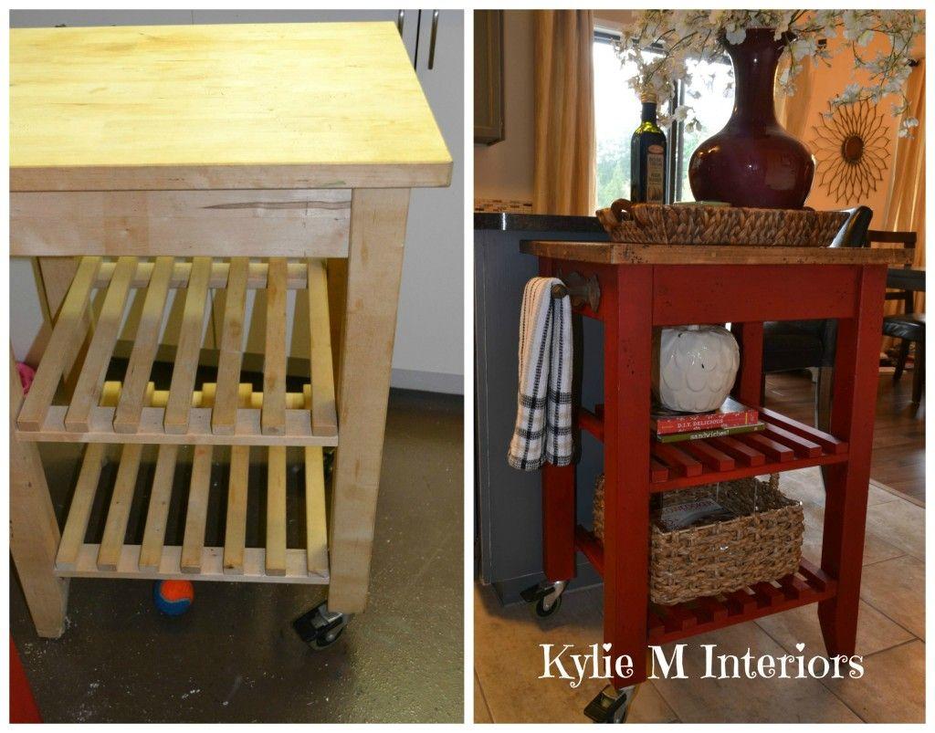 ikea bekvam kitchen island cart makeover with annie sloan chalk paint emperors silk