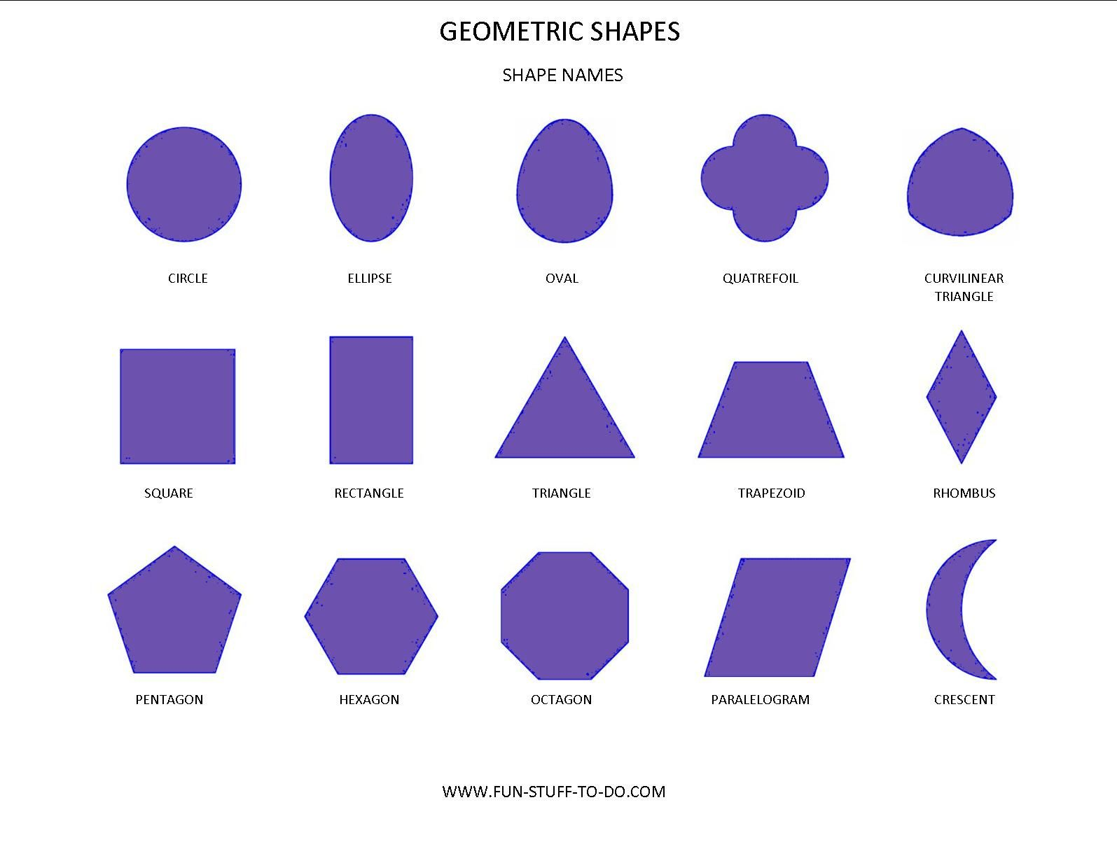 Image Result For Fun Stuff To Do Images Geometric Shape Names