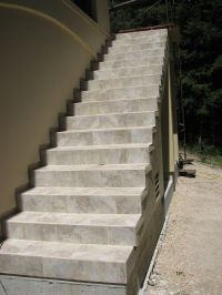 Tiled stairs by Central Coast Tile. http