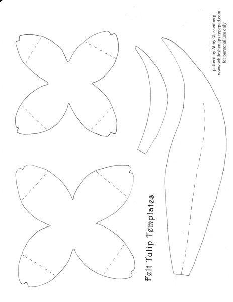 To make the tulips download this template I created for