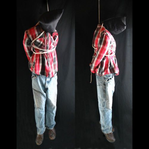 Lifesize 6' Hanging Man Scary Haunted House Halloween Life Size