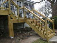 Building Deck Stairs Railing View lots of Deck Railing