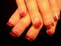 valentine nails. | Valentine acrylic Nail designs ...