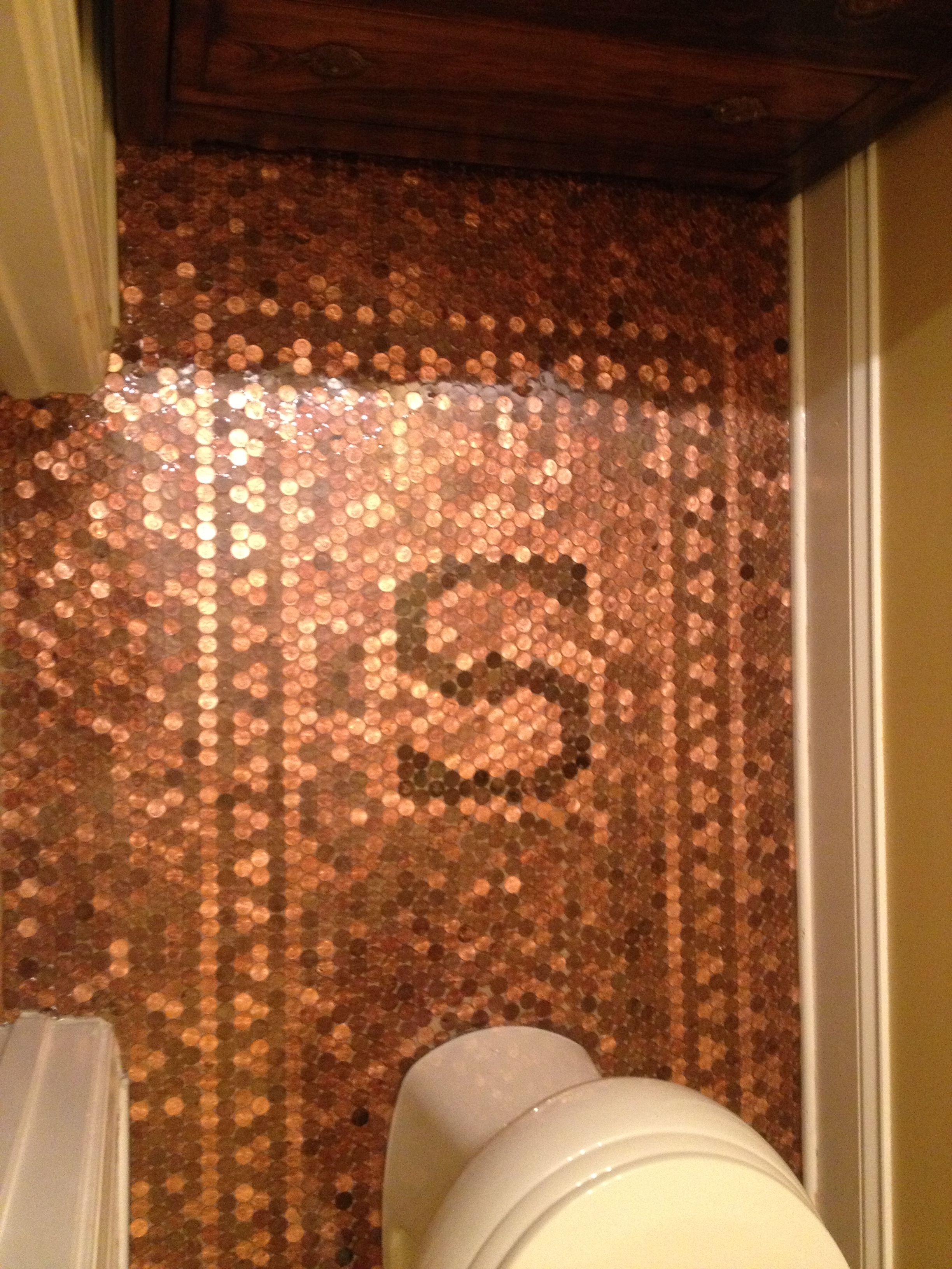 Copper Penny Floor Template