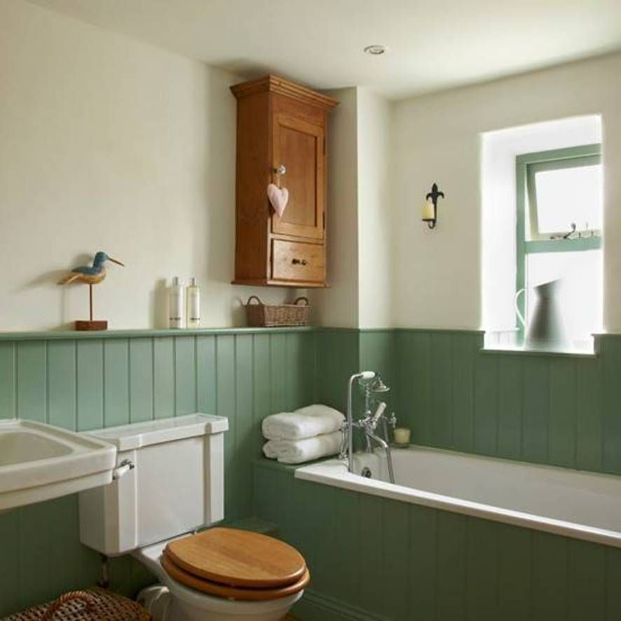 Bathrooms with Wainscoting Green  Interiors  Pinterest