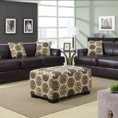 Brown Leather Sofa Grey Walls Loose Back Cushion Slipcover What Color Should I Paint My With