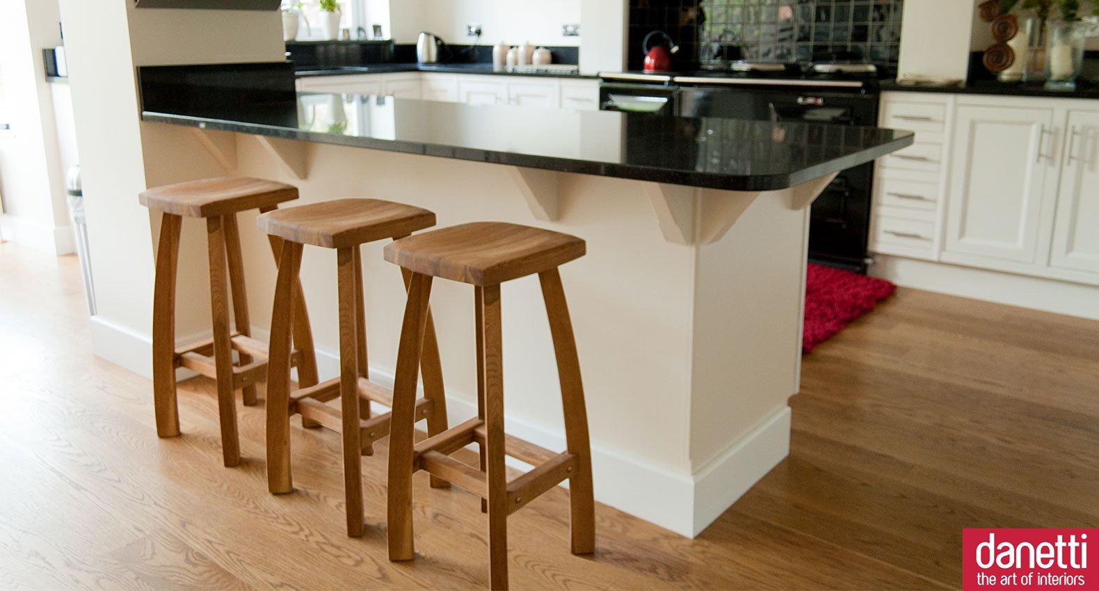 kitchen breakfast bar stools hanging rack oak stool shaker style kitchens and