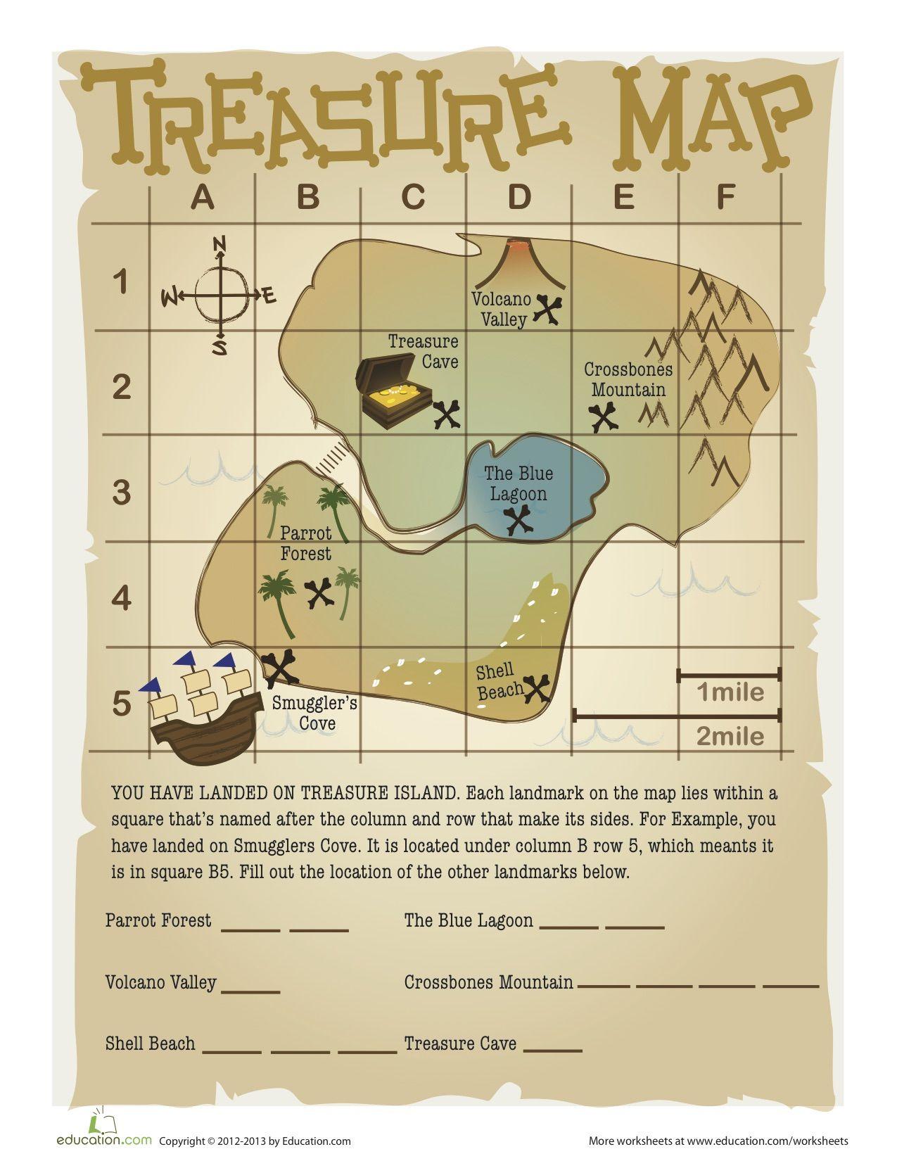 Island Map Worksheet