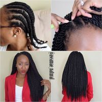 Crochet Senegalese Twists 1. I braided my hair into 11 ...