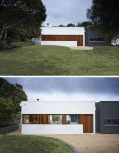 minimalist modern house exteriors the combination of white wood and black also rh pinterest