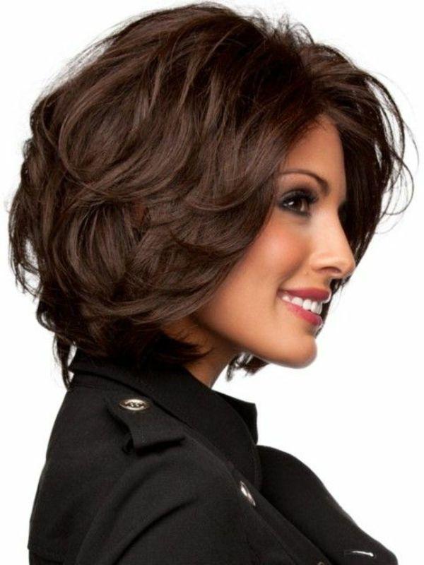 Kurzes Haar Braun Lockig Weibliche Frisuren Hairstyle