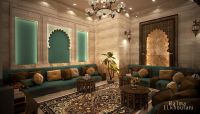 Interior Design Moroccan sitting room , In Saudi Arabia