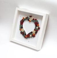 One Of A Kind Framed Paper Art Quilling Quilled Heart ...
