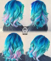 Mermaid hair color by Rickey Zito blue hair turquoise hair ...