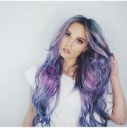 mermaid hair light blues pink