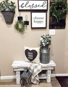 Blesssed sign choose happy farmhouse storage rustic modern home decor also rh pinterest
