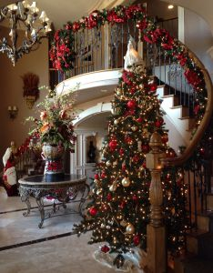 My foyer decorated for christmas also daniel pinterest rh