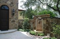 Italian Courtyard Designs | Courtyard wall fountain ...