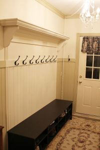 Adding a Coat Rack to your wainscoating to look built In ...