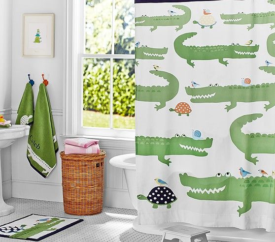 Alligator Shower Curtain Pottery Barn Kids Lew Bathroom