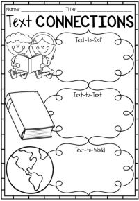 Reading Text Connection Worksheets, Posters & Bookmarks ...