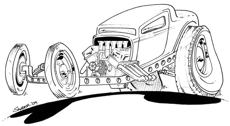 Rat Rod Coloring Pages: Chevy Rod Colouring Pages,Color