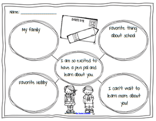 Pen Pal writing graphic organizer. Revamp and tailor to