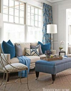 Blue in hamptons showhouse traditional home also living room rh pinterest