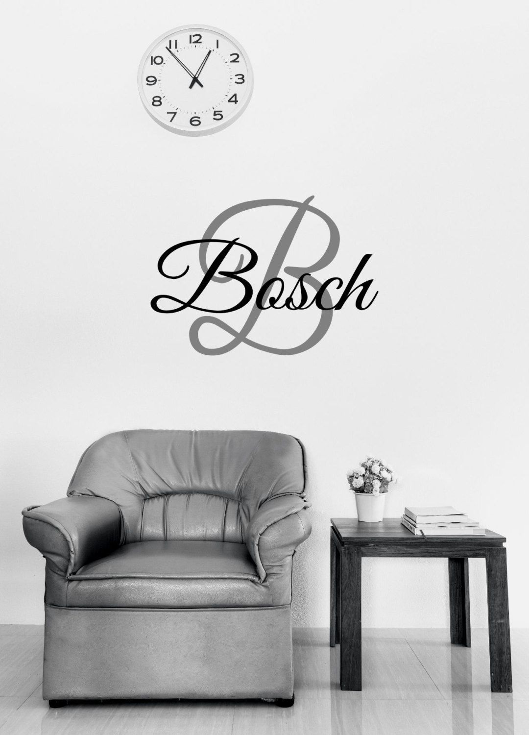 Custom family name  monogram vinyl wall art decal also rh pinterest